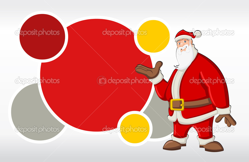 Red template with Santa Claus  — Stock Vector #13750431