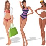 Girls wearing bikini — Stock Vector #13783225