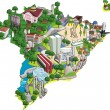Royalty-Free Stock Vector Image: Map of Brazil