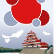 matsumoto castle — Stock Vector