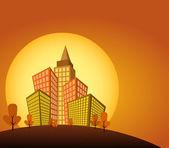 Città arancione — Vettoriale Stock