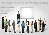 Presentation screen. — Stock Vector