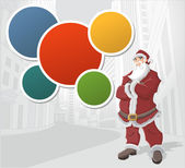 在城市中的圣诞老人 — 图库矢量图片