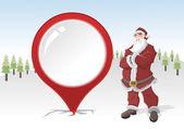 圣诞老人在雪中的模板 — 图库矢量图片