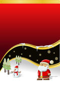 Santa Claus with christmas tree — Vector de stock