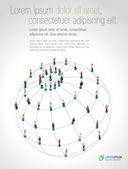 Social network — Stockvektor