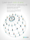 社会的ネットワーク — ストックベクタ