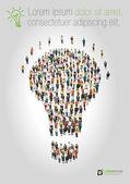 A forma di lampadina idea — Vettoriale Stock