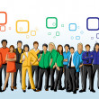 In rainbow colors — Imagen vectorial