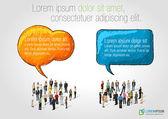 Talking by speech balloons — Stock Vector