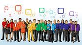 Em cores do arco-íris — Vetorial Stock
