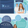 Medical template with doctors - Imagen vectorial