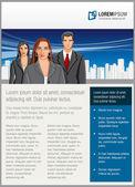 Modelo com negócios — Vetor de Stock