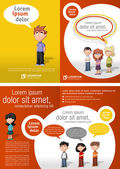 Children students — Vector de stock