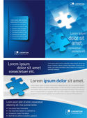 Puzzle pieces — Vector de stock