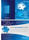 Puzzleteile — Stockvektor