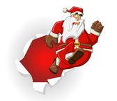 サンタ クロース — ストックベクタ