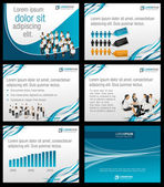 Business Template. Vector illustration. — Stockvector