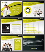 Business sjabloon. vectorillustratie. — Stockvector