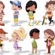 cartoon kinderen — Stockvector