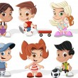 Stock Vector: Cartoon kids