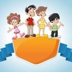Cute happy cartoon family — Stock Vector #22519409