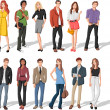 Fashion cartoon young people - Stock Vector