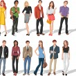 Fashion cartoon young people - Image vectorielle