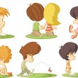 Cute cartoon kids in love — Stock Vector #22519945