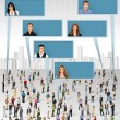 Crowd of business - Stock Vector