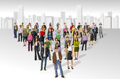 在城市的大集团 — 图库矢量图片