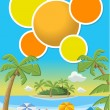Beautiful tropical beach  — Stock vektor