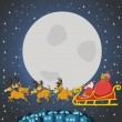 Santa Claus on sleigh — Stock Vector