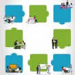 Business on work process — Imagen vectorial
