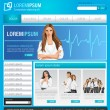Stock Vector: Blue medical business website Template