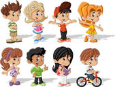 Cartoon children — Stockvector