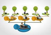 Hierarchy tree — Stock Vector