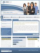 Website mit Geschäft — Stockvektor