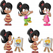 Cute playful cartoon latin girl — Stock Vector #33525677