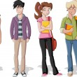 Vector de stock : Teenagers.