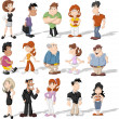 Cartoon people — Vector de stock #33527493