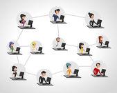 Social network. — Vettoriale Stock