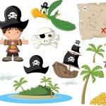 Cartoon pirate boy — Stock Vector #39730037