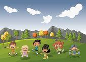 Cartoon kids — Stock Vector