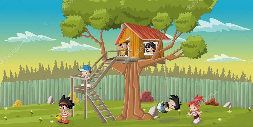 Dibujos animados vector de stock deniscristo 51119901 for Casa para patio ninos