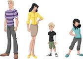 Rodzina szczęśliwy kreskówka — Wektor stockowy