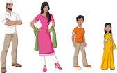 印度家庭 — 图库矢量图片