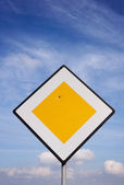 Damaged Road Sign — Stock Photo