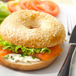 Bagel with Smoked Salmon — Stock Photo