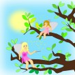 Two Fairies — Stock Photo